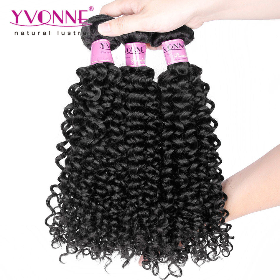 Grade 7A Brazilian Virgin Hair Malaysian Curly Hair 3Pcs