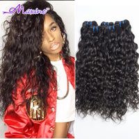 Brazilian Virgin Hair Water Wave Weave 4 Bundles Wet And Wavy