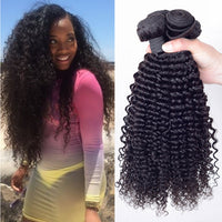 Brazilian Virgin Hair Afro Kinky Curly Weave 4 Bundles