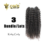 4A Kinky Curly 3 Bundle Virgin Brazilian Hair With Cuticle Intact