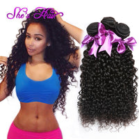 Grade 7A Malaysian Virgin Hair Weave Curly