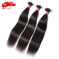6A mink brazilian virgin hair straight 3 bundles