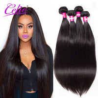 Brazilian Virgin Hair Straight 4 Bundles 7A