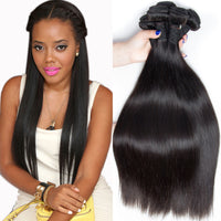 7A unprocessed malaysian hair human hair weave straight 3pcs