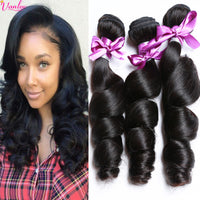 7A Brazilian Virgin Hair Loose Wave 3 Bundles