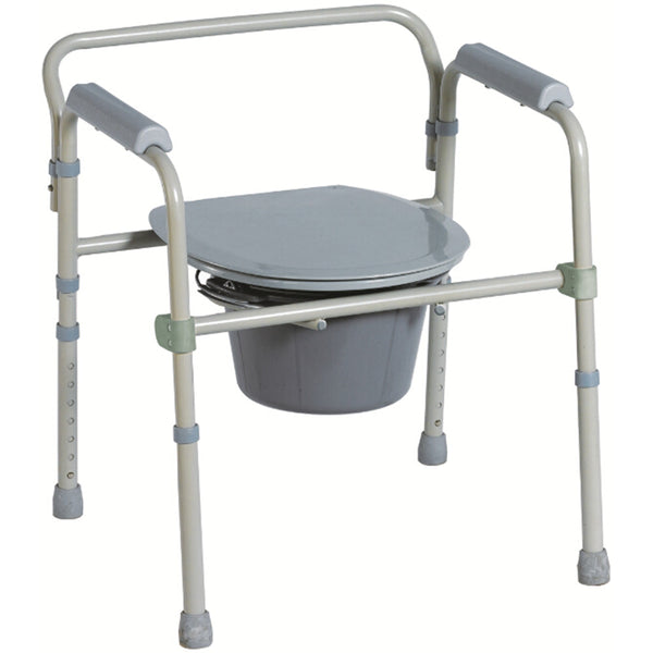 "BodyMed® 1.5"" x 2.5"" 3-in-1 Steel Commode"
