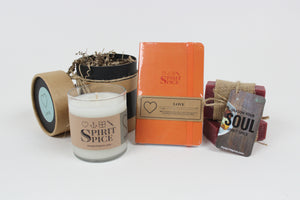 The LOVE Collection - Set of Organic Soaps, Handcrafted Scented Candle & Daily Planner - Spirit Spice