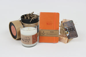 The HOPE Collection - Set of Organic Soaps, Handcrafted Scented Candle & Daily Planner - Spirit Spice
