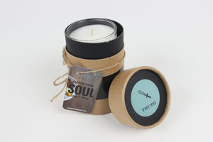 Handcrafted TRUTH Scented Soy Candle 8oz with Gift Box - Citrus Blend Of Essential Oils with Hints Of Lavender - Spirit Spice