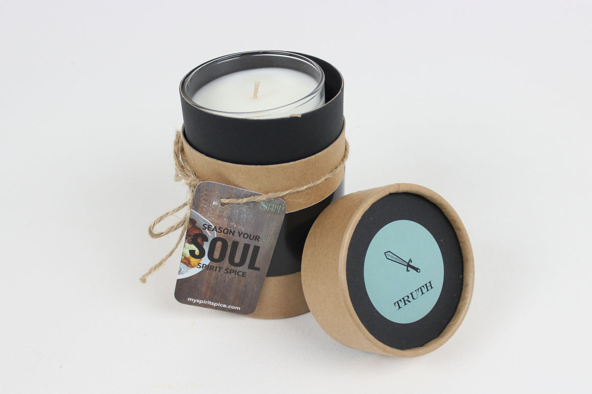 Handcrafted Scented Soy Candle with Gift Box TRUTH Gift For Your Soul