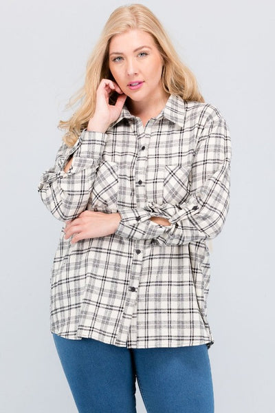 The AMBER Black/Ivory Plaid Flannel