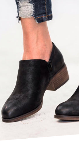 The RECALL Low Ankle Black Booties