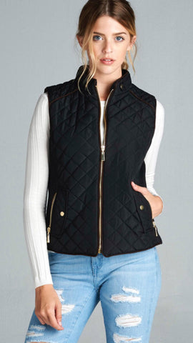 The Excursion Black Quilted Vest