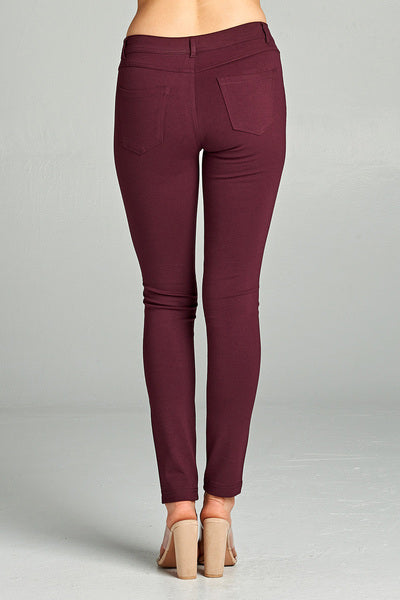 Marla 5-Pocket Skinny Jegging- Plum