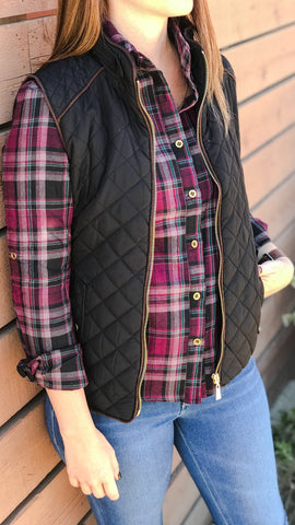 The SIERRA Burgundy Plaid Shirt
