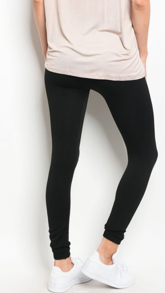 Black Fleece Lined Legging