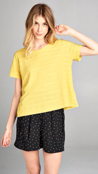 The CAMBY Mustard Boxy Top