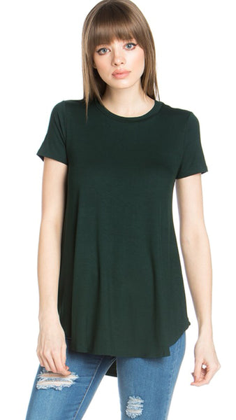 The Anytime Basic Tee in Hunter Green