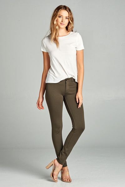 Marla 5-Pocket Skinny Jegging- Olive
