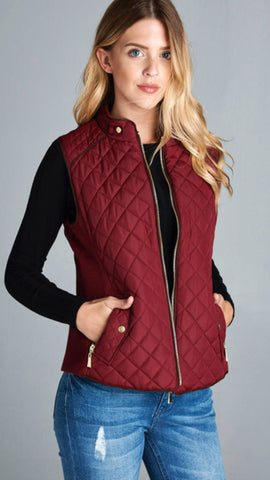 The Excursion Burgundy Quilted Vest