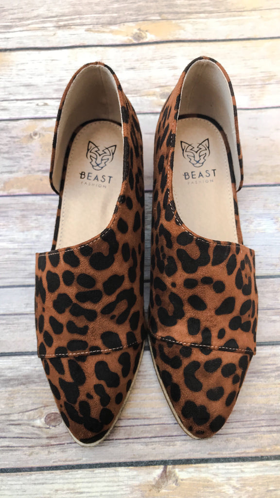 The Carter Leopard Cut Out Flats