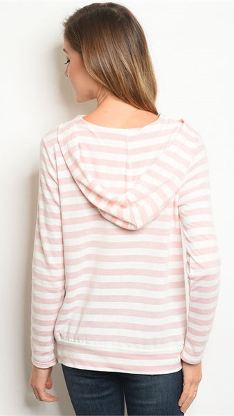 STRIPES ARE NICE Pullover Hoodie Top
