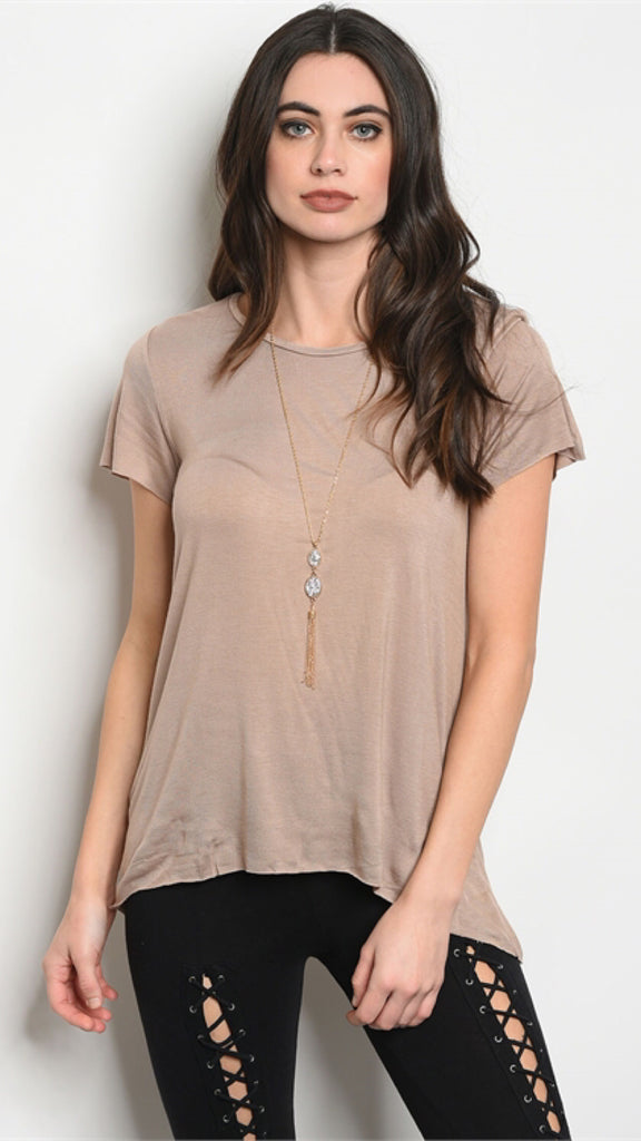 The Ex-Boyfriend Taupe Distressed Tee