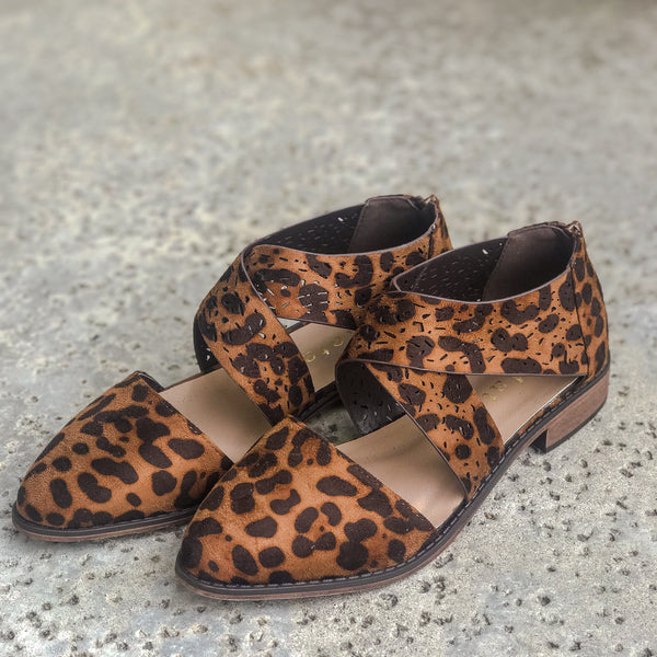 LOLA Leopard Low Ankle Summer Bootie