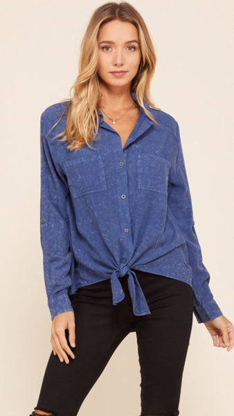 The Madden Woven Challis Button Down Shirt