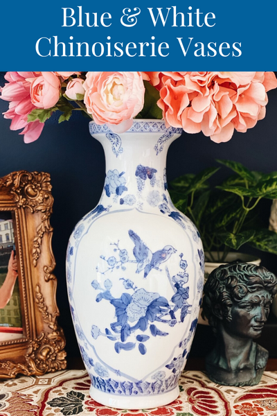 Blue & White Chinoiserie Vases For Every Home