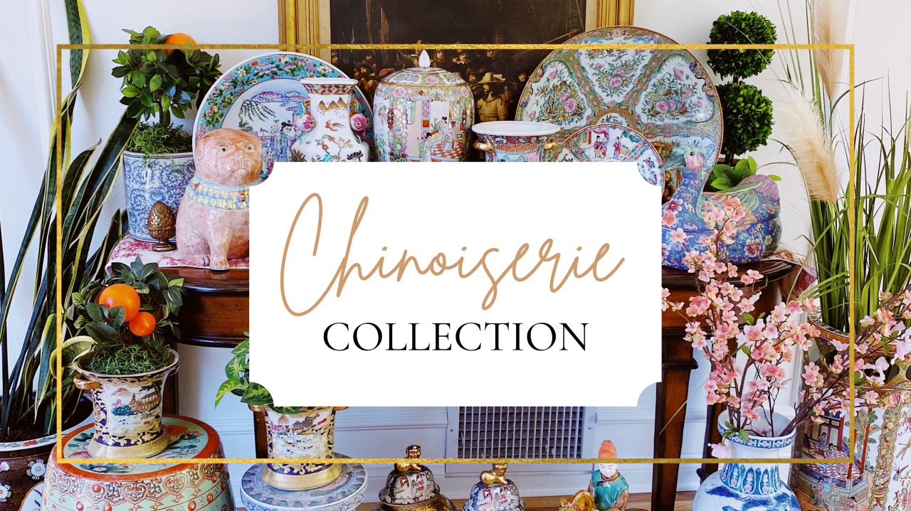 vintage and antique chinoiserie decor
