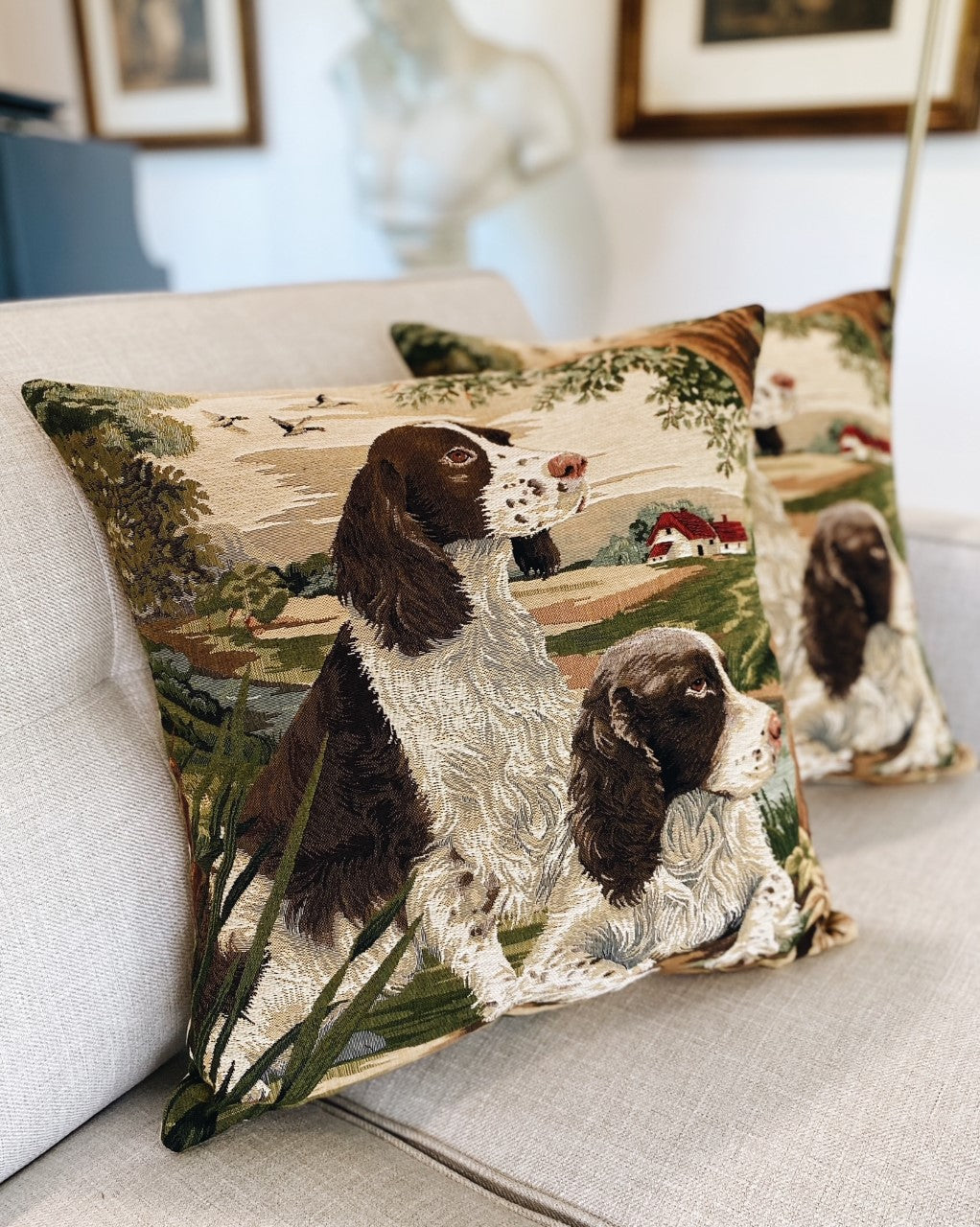 english-spring-spaniels-woven-pillow-cover