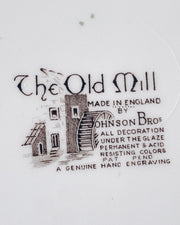 11 Inch Johnson Brothers The Old Mill Service Plate; English Scenery Charger Plate