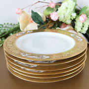 12 Antique Gold Rimmed Salad Plates 8 Inch By Hutschenreuther