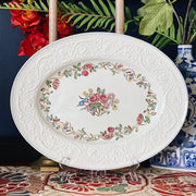 "16"" Wedgwood Patrician Argyle Oval Serve Platter"
