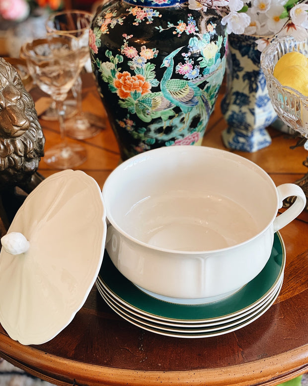 1960s White Federalist For Sears Ironstone Covered Round Casserole