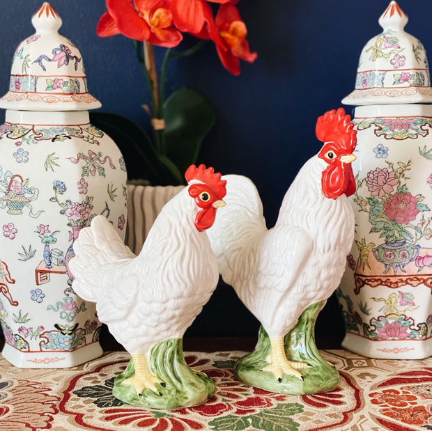 Andrea By Sadek Ceramic Rooster & Hen Set