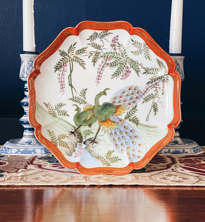 Andrea by Sadek Peacock Decorative Plate