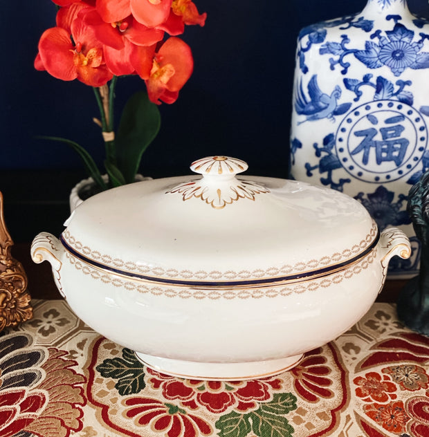 Antique Bisto England Large Soup Tureen