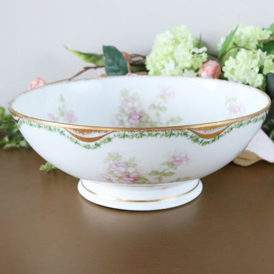 Antique Haviland Limoges Round Serving Bowl