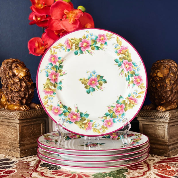 Antique Limoges Charger Hand Painted Floral Plates