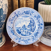 Blue & White Bread & Butter Plates by Johnson Brothers