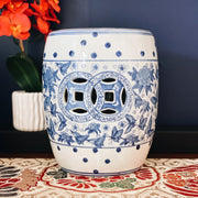 Blue & White Chinoiserie Garden Stool