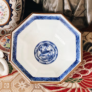Blue and White Octagonal Japanese Porcelain Bowl