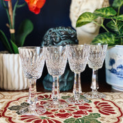 Bohemian Crystal Aperitif Glasses Set