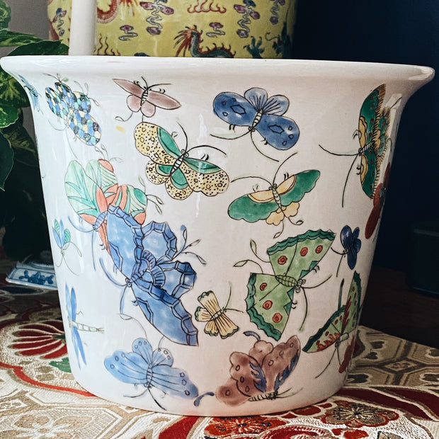 Butterflies Jardiniere Planter Pot