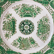 Chinese Export Green & Gold Fitzhugh China Plates