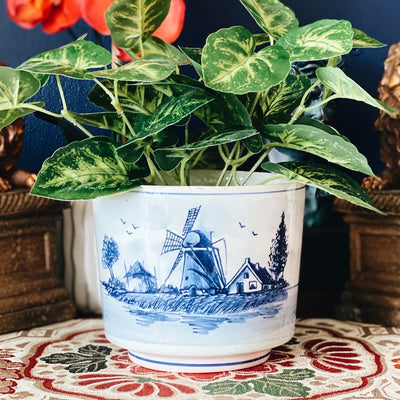 Delft Porcelain Blue and White Cachepot