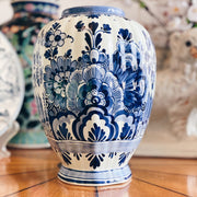 Delft Porcelain Blue and White Ginger Jar Vase
