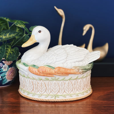Fitz & Floyd Le Canard Oval Covered Dish